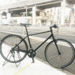 真っ黒いクロスバイク コーダーブルーム レイル700SE(スペシャルエディション)