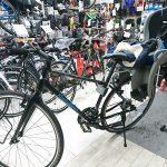 クロスバイクにハマックスチャイルドシート