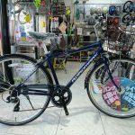 ビジネスバック対応カゴ付きクロスバイク ロードマークビジネス
