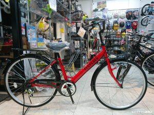 赤い自転車や黄色い自転車あります